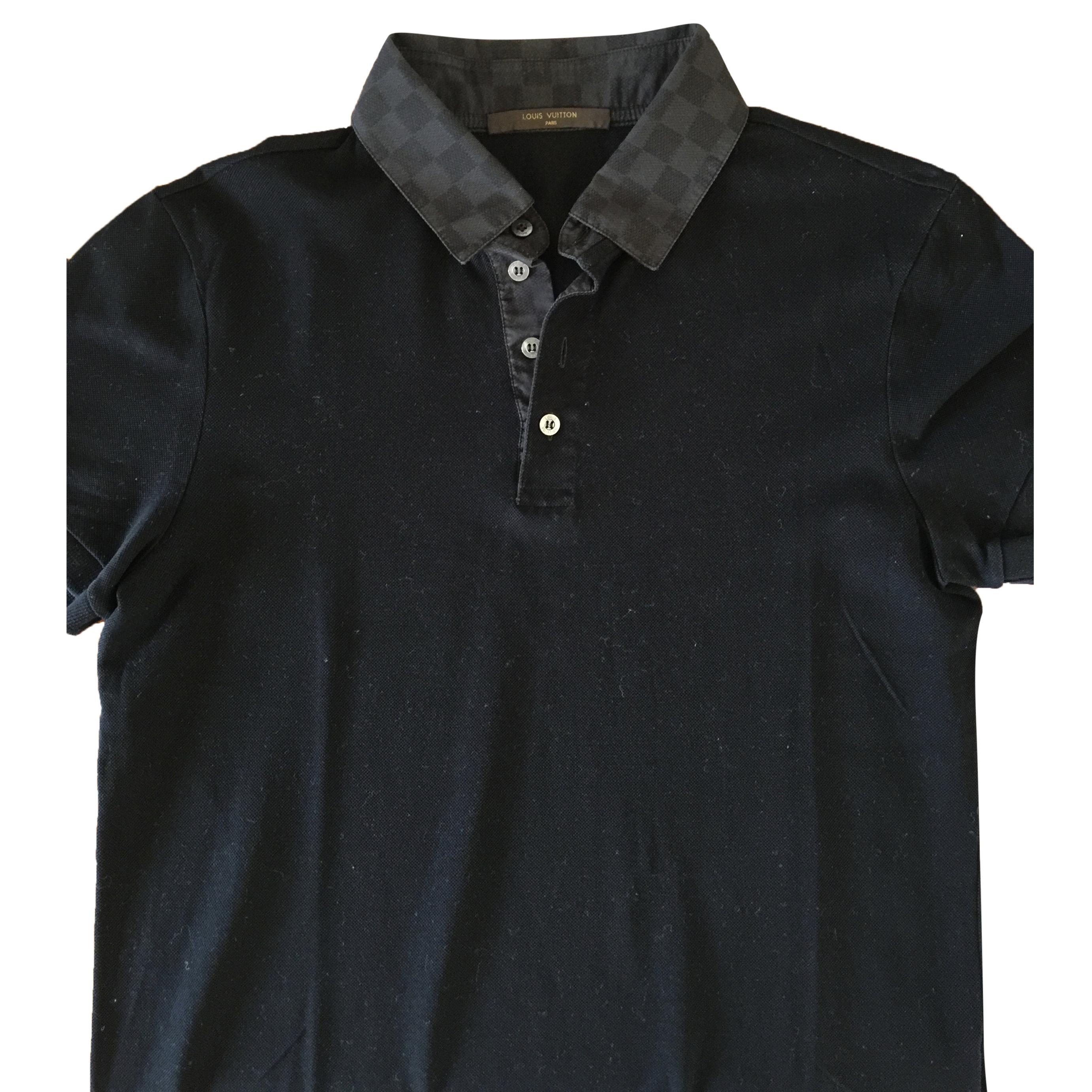 2ca7c299 Louis Vuitton Mens Damier Graphite Polo Shirt | HEWI London