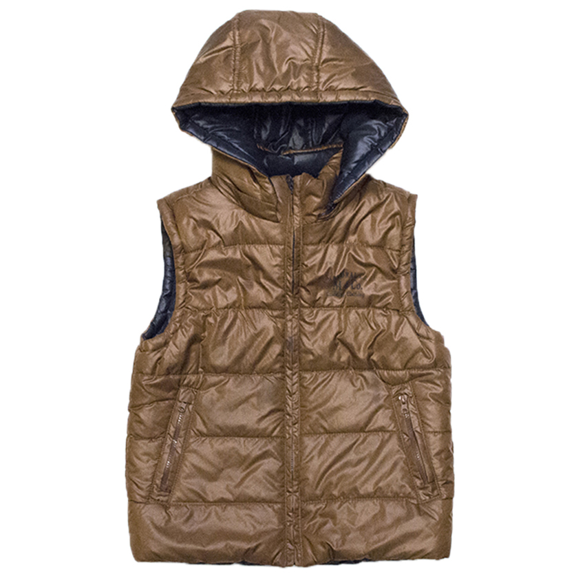 Mayoral Kids Puffer Vest with Detachable Hoodie