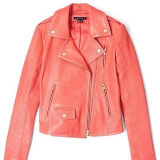 Theory Leather Biker Jacket size small UK 10