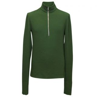 JW Anderson Green Textured Zip Up Sweat