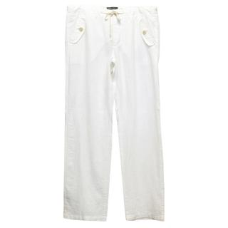Vince white linen trousers