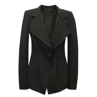Donna Karan Black Blazer With Mesh Back Detail