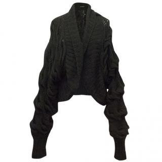 Donna Karan Oversize Knit Black Cardigan