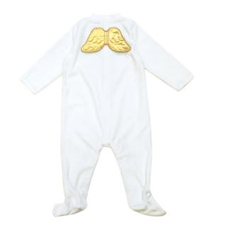 Marie Chantal Baby Blue Baby-grow with wings