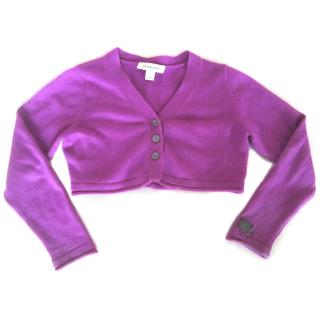 burberry girls cashmere cardigan age 4 purple