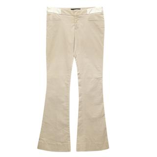 Gucci beige trousers with belt