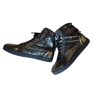 Hogan REBEL silver shoes
