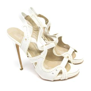Philosophy by White leather trim strappy sandals
