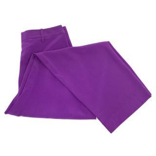 Sonia Rykiel silk purple trousers