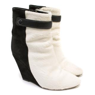 Isabel Marant Pony Hair Wedge Boots