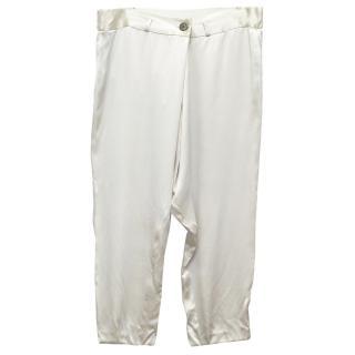 Vera Wang Silk Cream Trousers