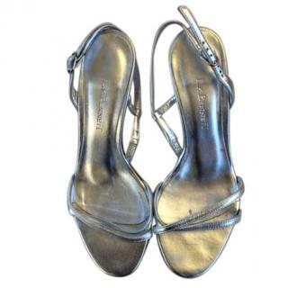 LK Bennett elegant silver slingback shoes