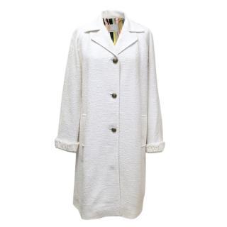 Missoni Cream Cotton Blend Coat