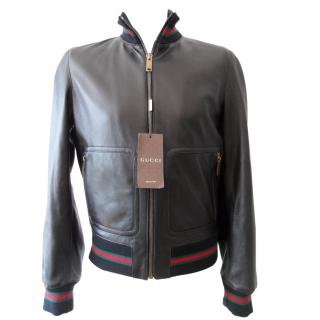 Gucci leather jacket Size 48