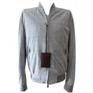 Brioni leather summer jacket