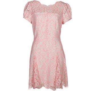 Juicy Couture Neon Lace Tea Dress