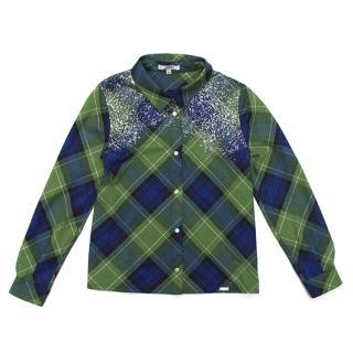 Junior Paul Gaultier Junior checkered shirt