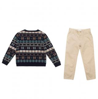 Marie Chantal Multi Fairisle sweater and  pants