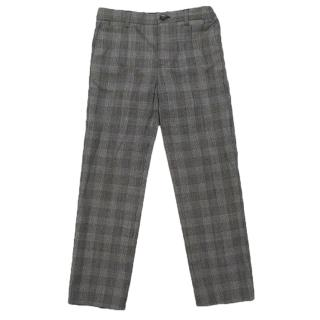 Dolce and Gabbana boy's gingham check print trousers