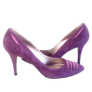 CASADEI Purple Suede Pumps