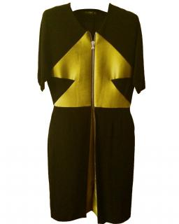 Etro Dress in Black & Metal Green