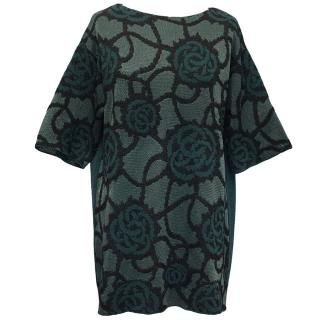 Dries Van Noten  Green Roses Tunic Top S/S 2016