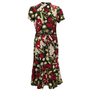 Moschino short sleeved multi-coloured dress