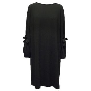 Paule KA Black Long Sleeved Dress with Bows