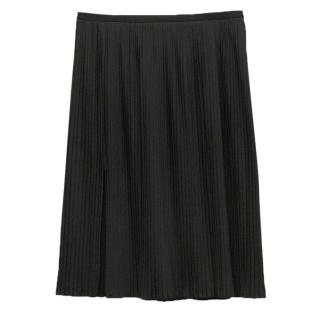 Wolford black pleated mid length skirt