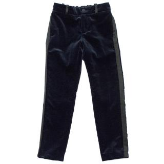 Gucci Midnight Blue Velvet Trousers.