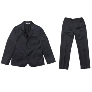 Dolce & Gabbana Boys Navy Blue Suit