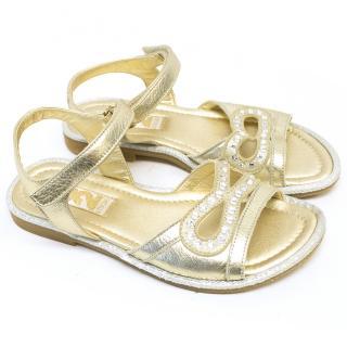 Step 2wo Girls Gold Sandls