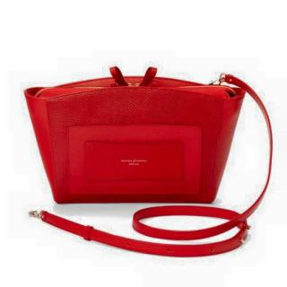 Aspinal Red Marylebone Shoulder Bag