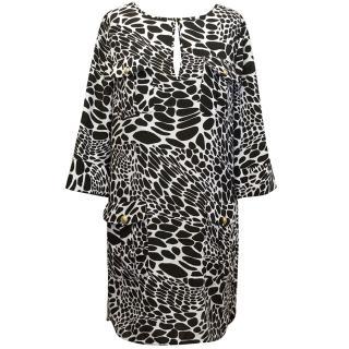 Diane von Furstenberg black and white dress