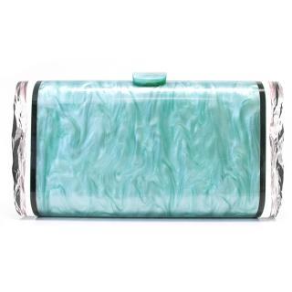 Edie Parker  Blue Lara solid clutch