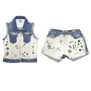 Scotch R'belle denim shorts with matching top