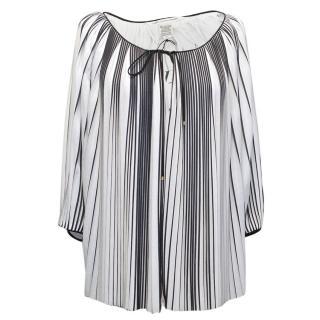 Diane von Furstenberg black and white top