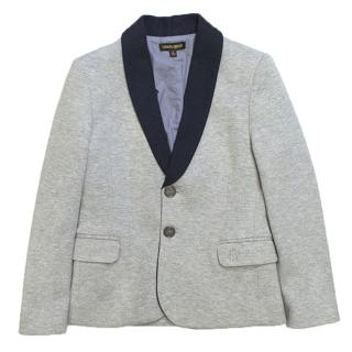 Roberto Cavalli Boys Grey Cotton Blazer