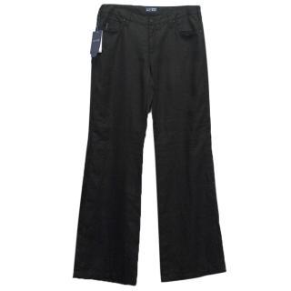 Armani Jeans Black Linen Trousers