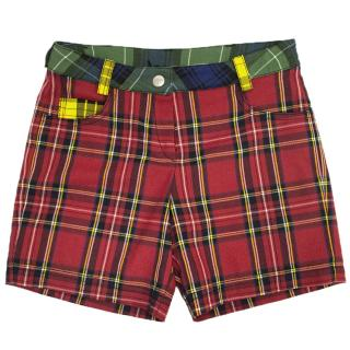 Gaultier Junior Girls Multi Coloured Checkered Shorts