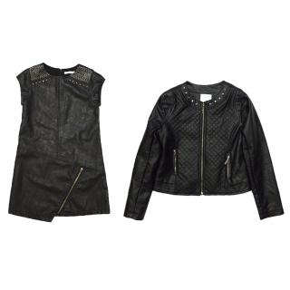 Mayoral Girls Leather Dress and Matching Jacket