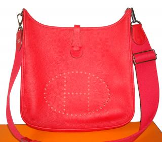 Hermes Evelyne III Bag PM size Casaque Red Clemence
