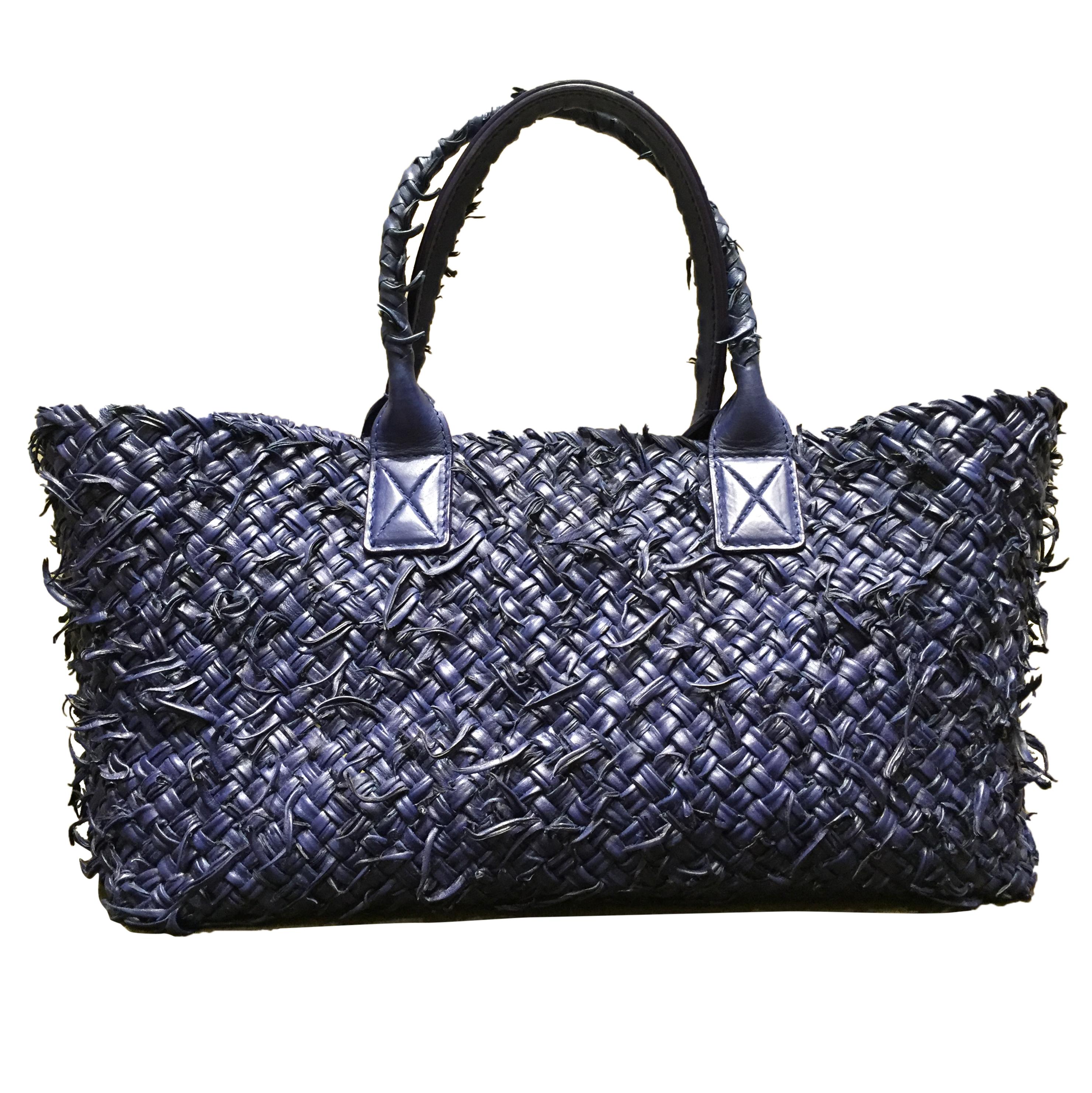 367d376d4f409 Bottega Veneta Limited Edition Sapphire Cabat Fuzzy Bag067116   HEWI ...