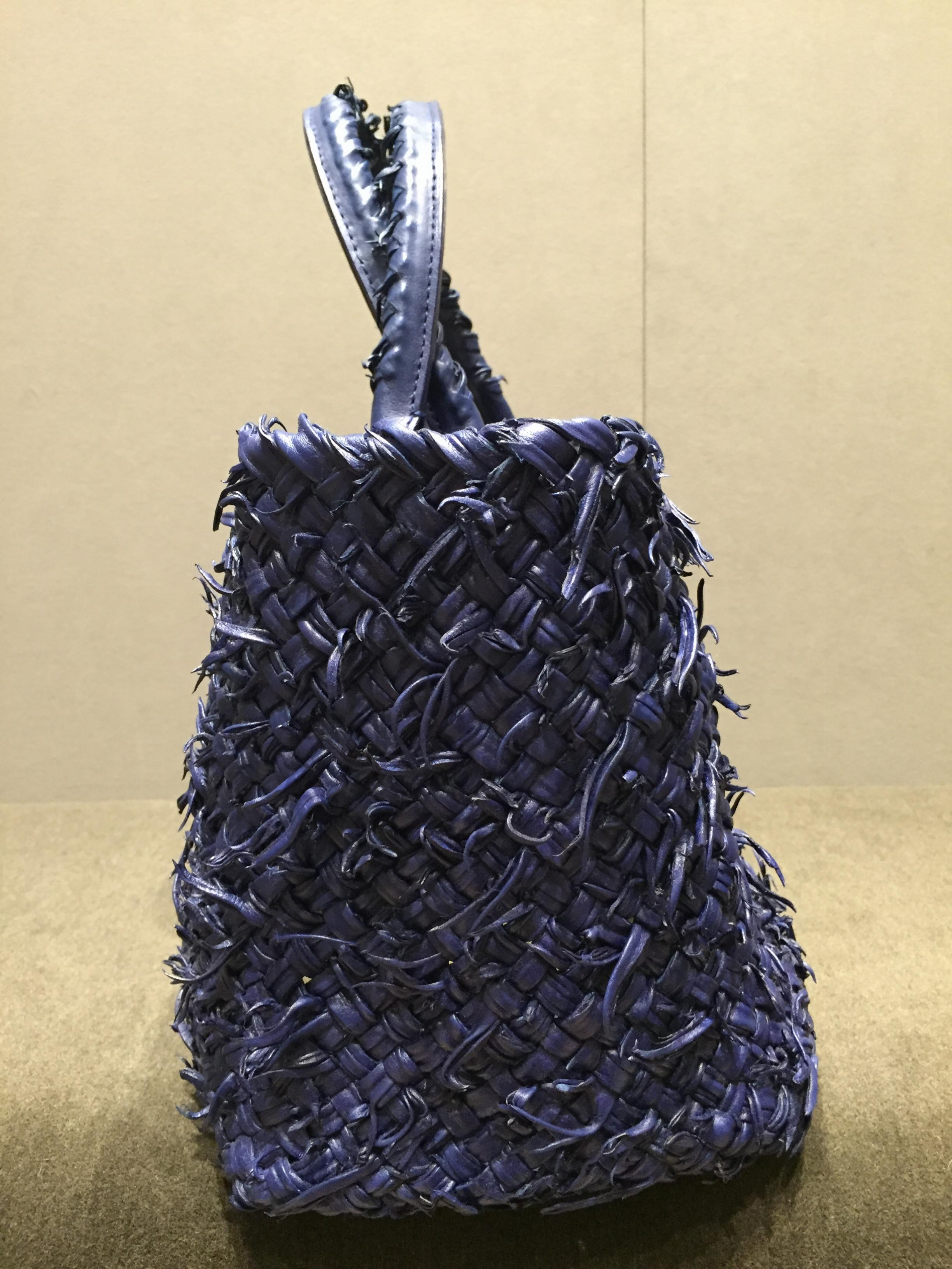 e3e9e1dda291 Bottega Veneta Limited Edition Sapphire Cabat Fuzzy Bag. 22. 1234567