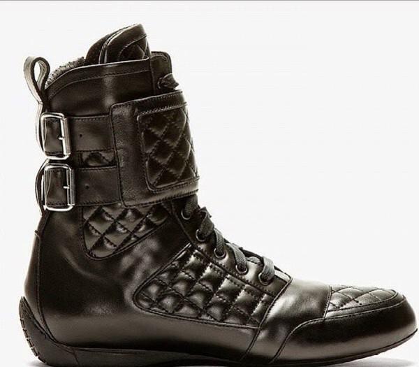 ba45b83e861 Balmain Black Leather High Top Sneakers   HEWI London