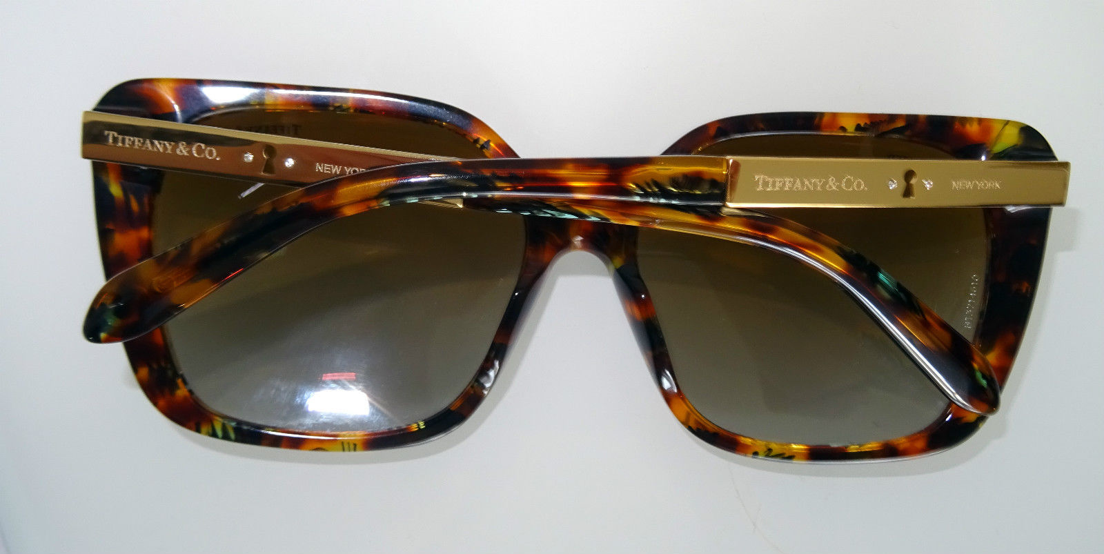 8c52c00439b Tiffany   Co. 4074 Brown Tortoiseshell Polarised Sunglasses. 22. 123456789