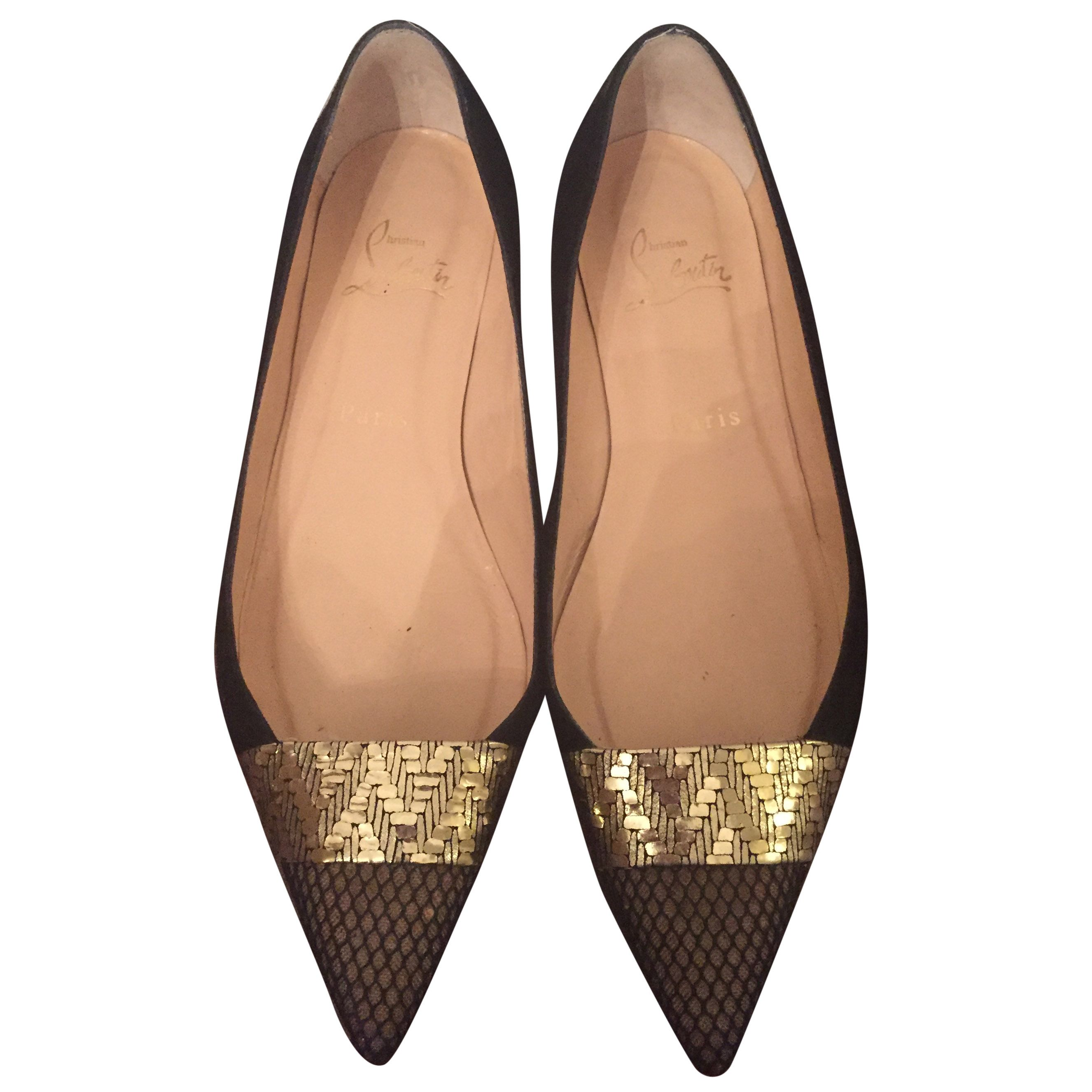 lowest price 4093b daefd Christian Louboutin Black Pointy Flats