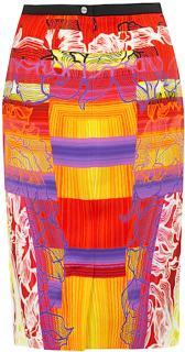 NEW Peter Pilotto Orange Beam Print Skirt