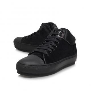 ACNE studios black pony skin sneakers
