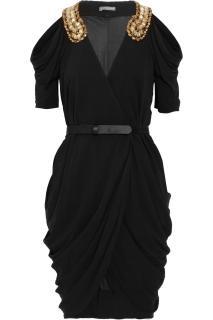 Alexander McQueen Black draped dress